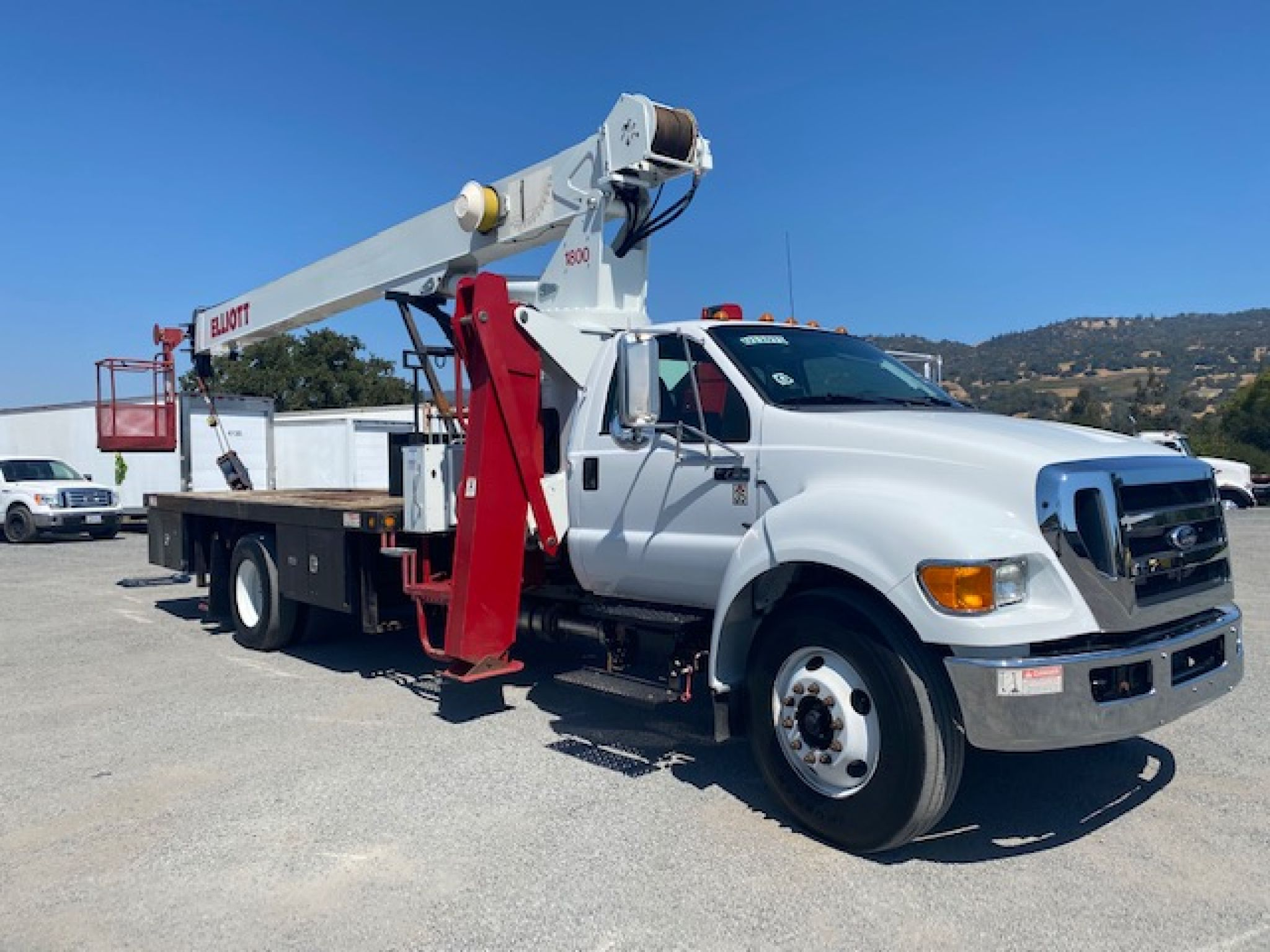 2012 Ford F750 XL Crane Truck For Sale With An 18-Ton Elliot Crane